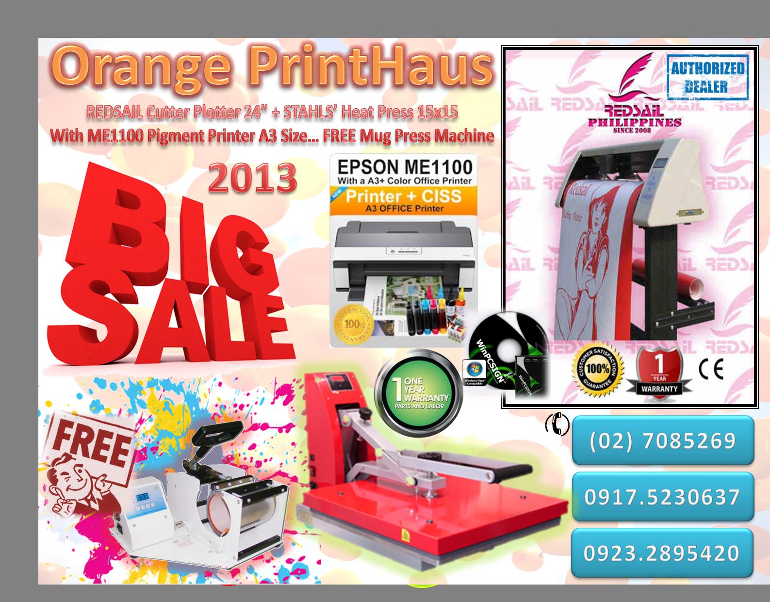 Free Mug Press For A Digital Printing Package Orange