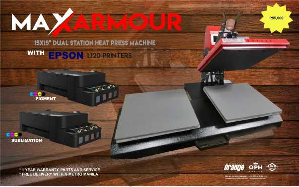 Heat Press - Dual Station w Epson P55k