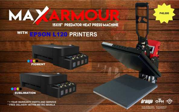 Heat Press - Max Clam w 2 Epson 40KPackage